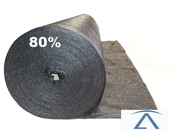 Sombrite Tela De Sombreamento preta 80% 2 x 50