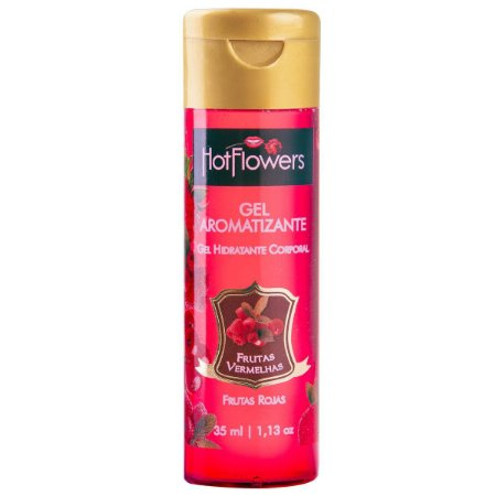 Gel Aromatizante Frutas Vermelhas - Sexo Oral - Esquenta - 35ml Hot Flowers