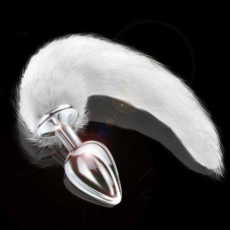Plug Hard com Cauda Artificial - Cromado