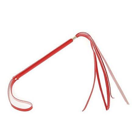 Chicote Fino com Franja de 29 cm - Vermelho