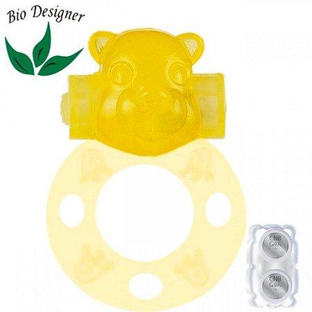 Anel Peniano Urso Amarelo Fluorescente