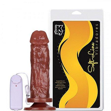 Pênis 18X4,7 Cm Cor Chocolate