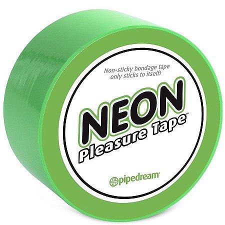Fita Para Amarrar - Neon Bondage Tape Green - Pipedream