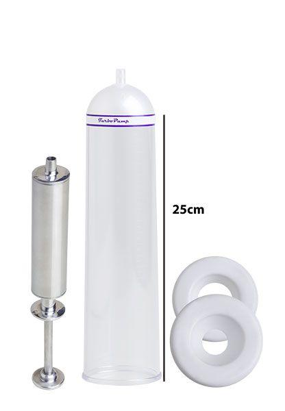 Bomba Peniana Peneflex - Tubo 25 x 6,2 cm - Seringa em Alumínio