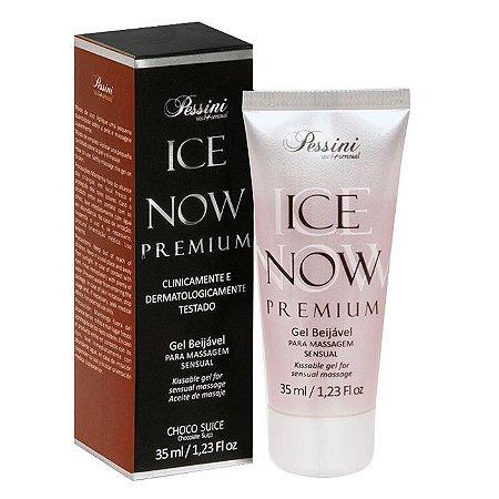 ICE NOW PREMIUM CHOCO SUICE - Gel térmico beijável sabor chocolate suíço 35ml - Pessini