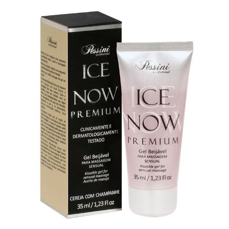 ICE NOW PREMIUM CEREJA COM CHAMPANHE - Gel térmico beijável sabor cereja com champanhe 35ml - Pessini