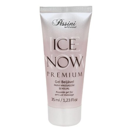 ICE NOW PREMIUM STRAWBERRY ITALY - Gel térmico beijável sabor morango italiano 35ml - Pessini