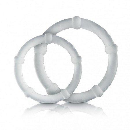 Anel Peniano - 02 anéis Prolongadores de Ereção P/M Sexy Fantasy