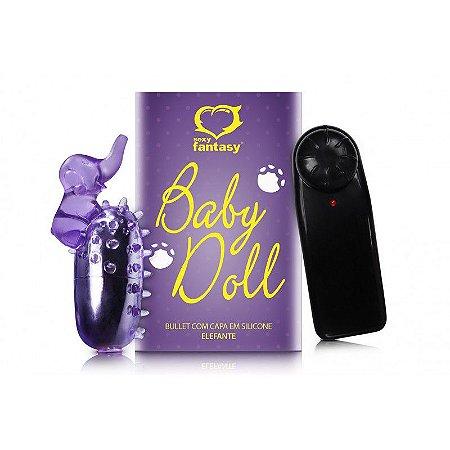Bullet Baby Doll com Capa de Dedo Elefante Lilás