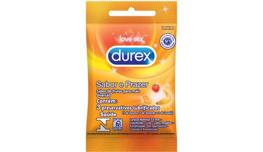 Preservativo Durex Sabor & Prazer 3 un.
