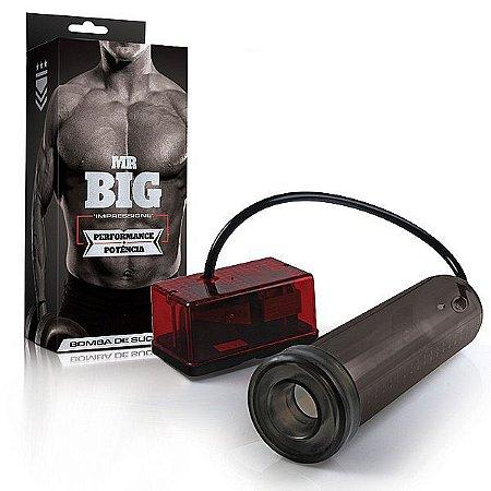 Bomba Peniana  Mr. Big  Elétrica - 220vts - 24cm x 6cm - Fumê