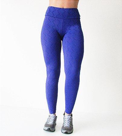 Legging Brocada Azul Roial