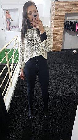 Calça Cós Slim e Bolso Light