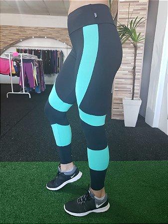 Legging Cross Training - Light - Preta/Verde