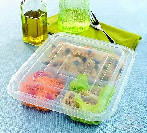 Embalagem pote para freezer e microondas pacote com 10 Unidades - 810mls - G323 - Galvanotek