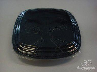 Embalagem Quadrada P/ Comida Japonesa - Galvanotek GO 920 - caixa com 50 Unidades