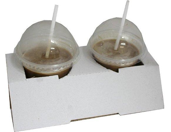 Suporte para dois copos delivery pacote com 50 - Ideia
