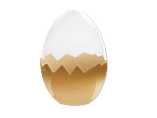 Ovo de plástico ouro - tamanho G - Cromus