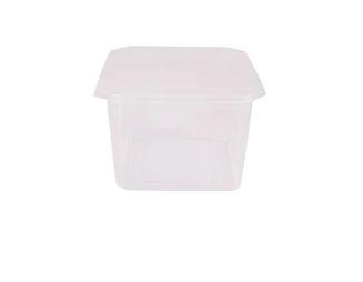 Pote quadrado com tampa pacote com 20 unidades - 500ml - Prafesta