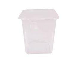 Pote quadrado com tampa caixa com 8 pacotes c/ 20 unidades - Ref 8472 - 750ml - Prafesta