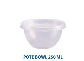 Pote bowl com tampa - pacote com 20 unidades - Ref 8492 - 250ml - Prafesta