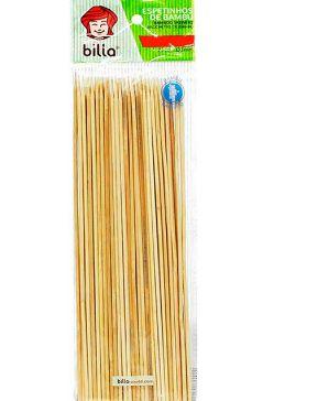 Espeto de bambu 25cm - Caixa com 100 pacotes contendo 100 unidades -  Billa