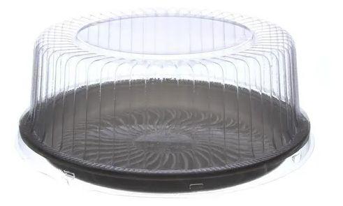 Embalagem torta preta pequena 1.5kg caixa com 50 - G50MM - Galvanotek