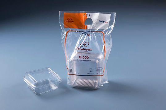 Embalagem doce quadrado 200ml pacote com 10 unidades - G650 SF - Galvanotek