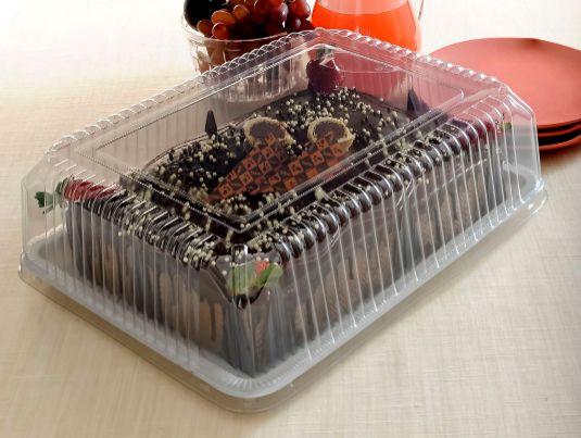 Embalagens torta retangular grande pacote com 5 - 3kg - G70M - Galvanotek