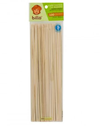 Espeto de bambu 18cm pacotes com 100 unidades - Billa