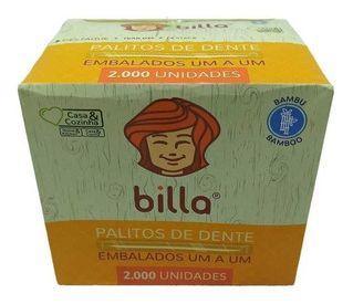 Palito dental caixa com 12 pacotes contendo 2000 unidades - Billa