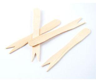 Garfinho de madeira pacote com 50 unidades - Theoto