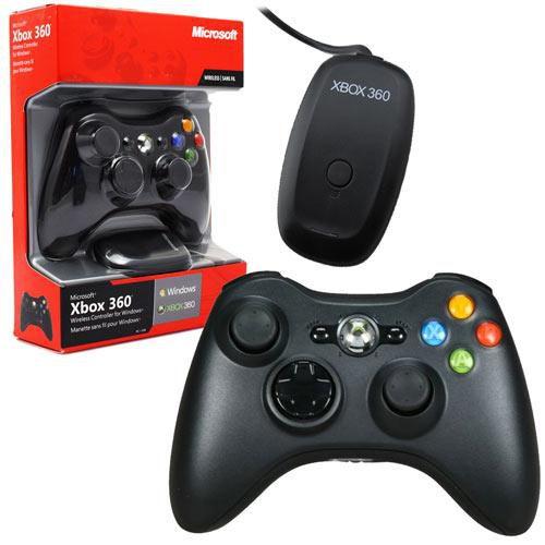 Controle Sem Fio (Preto) Adaptador Para Pc - Xbox 360 / Pc