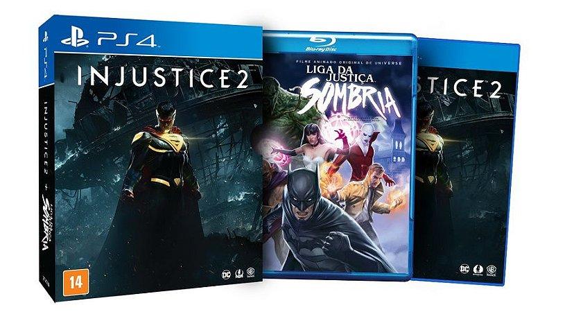 Game Injustice 2 Edição Limitada com Filme Liga da Justiça Sombria PS4