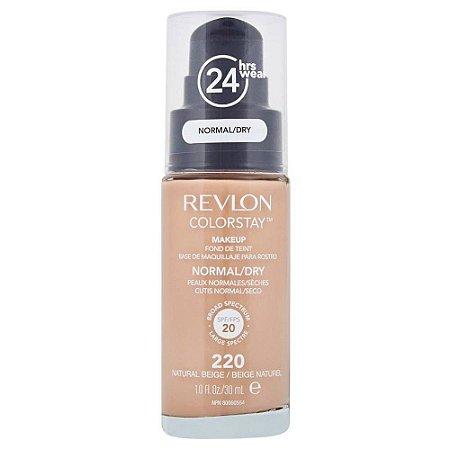 Base Revlon ColorStay Pele Normal e Seca Cor 220 Natural Beige / Beige Naturel 30ml - Base Líquida FPS 20