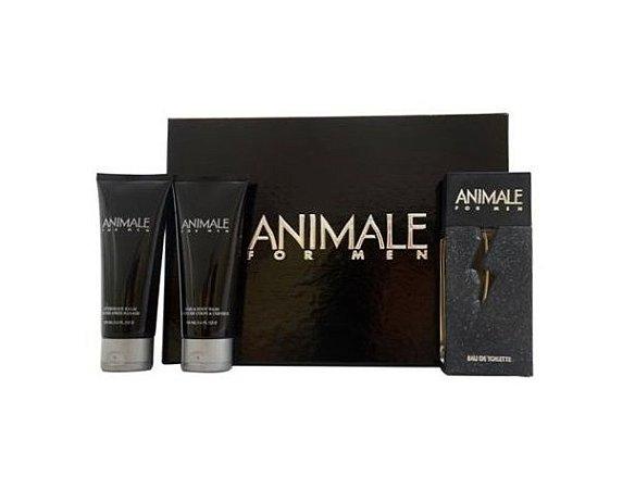 Kit Animale For Men Eau de Toilette 100ml + Gel de Banho 100ml + Pós-Barba 100ml - Masculino