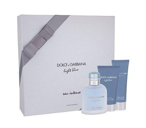 Kit Dolce & Gabbana Ligth Blue Eau Intense Pour Homme Shower + Shower Gel + After Shave Balm