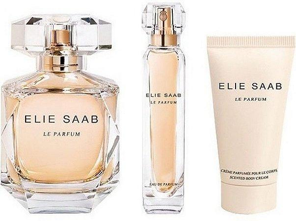 kit Elie Saab Le Parfum 90ml - Miniatura 10ml - Loção Corporal 75ml