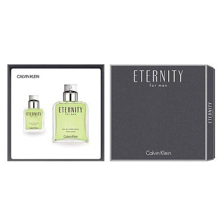 Kit Eternity For Men EDT Calvin Klein 200ml + Miniatura EDT 30ml - Masculino