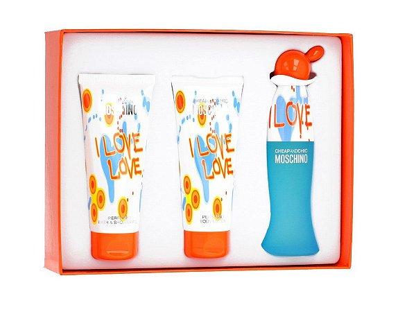 Kit I Love Love Moschino Eau de Toilette 50ml + Body Lotion 100ml + Shower Gel 100ml - Feminino