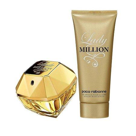 Kit Lady Million Paco Rabanne Eau de Parfum 80ml + Loção Corporal 100ml