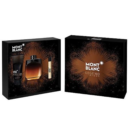Kit Montblanc Legend Night Eau de Parfum 100 ml + Pós-barba 100ml + Roller Ball 7,5ml - Masculino