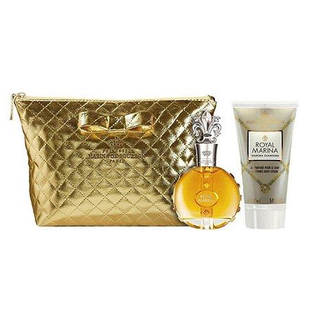 Kit Royal Marina Diamond Eau de Parfum 100ml + Loção Corporal 150ml + Nécessaire - Feminino