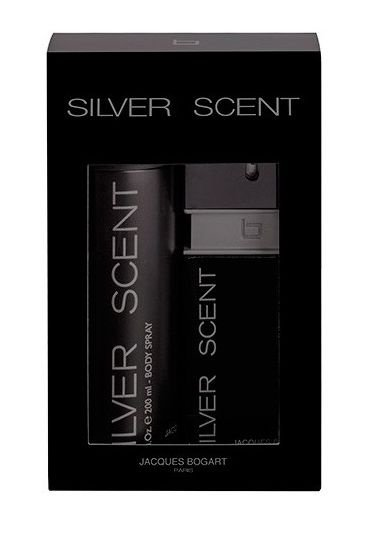 Kit Silver Scent Eau de Toilette  Jacques Bogart 100ml + Body Spray 200ml - Masculino