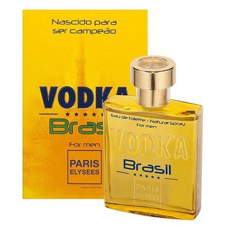 Vodka Brasil Yellow Eau de Toilette Paris Elysees 100ml - Perfume Masculino