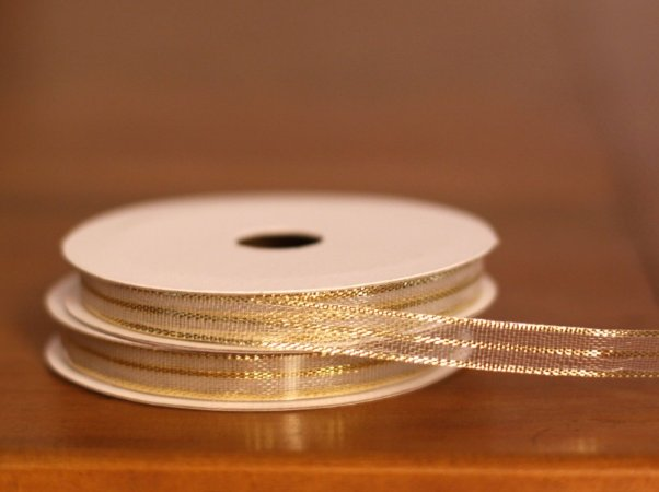 Fita Decorativa Estreita- Metálica ouro