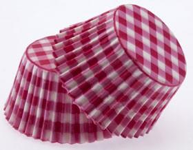 Forminha Cupcake - Xadrez - Vermelho