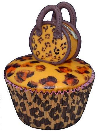 Forminha Cupcake Foneável - Onçinha