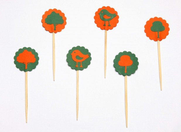Cupcake Toppers - Florest And Birds