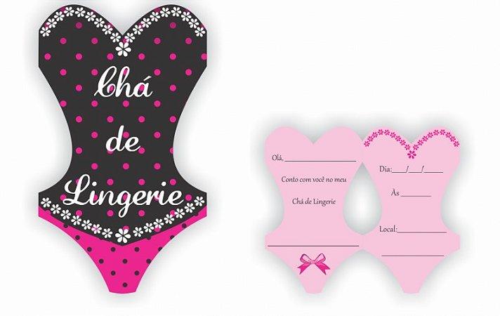 Convite - Chá De Lingerie (8 unidades)
